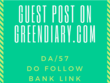 Publish a Guest Post on GreenDiary GreenDiary.com Dofollow