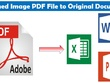 Convert PDF,JPG or Scanned images to word, Excel