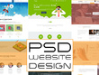 Create professional and attractive website PSD designs