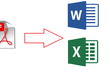 Convert or manually type 30 PDF pages to Word or Excel files