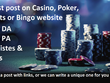 Guest post on Casino, Sports or Poker blogs & websites DA40+