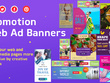 Design attractive Banner Ad in all Standard sizes