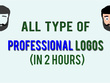 Make All Type of Logos For 2 Hour