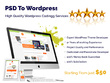 Convert psd to html, bootstrap and psd to wordpress