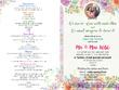 Design Bi-Fold Booklet Type Wedding Invitation Cover and Program