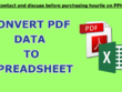 Convert PDF File Data to A Excelsheet