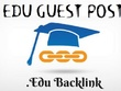 4x EDU Guest Posts with Dofollow DA60 - DA94