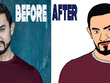 Draw nice style cartoon caricature as a profile picture