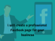 Create and Optimise Professional Facebook Business Page