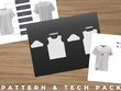 Give you a Tshirt Digital Sample, Prototype Pattern & Tech Pack