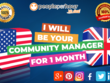 Be your Community Manager for 1 week