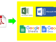 Copy type 10 pages of PDF into MS Excel or Word or Google Sheets