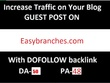 Easybranches.com Write Guest Post with Dofollow Backlink DA 50
