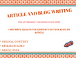 Write an Engaging Blogs and Articles-- 600-700 words