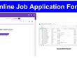 Design Online Job Application Form.