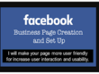 Create facebook page and its optimization for your business.