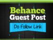 Add  a Dofollow guest post on Behance DA 90+