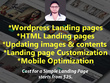 Create Wordpress Landing Page Or Html Landing Page