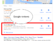 Negative review for competitor site and positive review for your