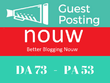 Write And Publish Guest Post On Nouw Blog Da 73