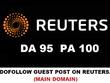 Guest Post on REUTERS ,Reuters.com DA 95 PA 100 - Dofollow links