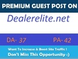 Publish guest post on automotive blog dealerelite.net