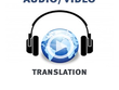 Translate, your video or audio file spa to eng, until 30 min
