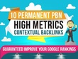 Do 10 high PA DA TF CF permanent homepage pbn backlinks
