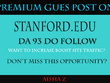 Guest Posting on Stanford - Stanford.Edu  - DA 93