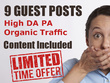 Do 9 High Quality Authority Guest Posts With Articles