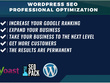 Wordpress SEO Optimization to improve your Google rankings