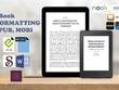 Convert your manuscript into Reflowable eBook (ePub / Mobi)