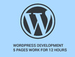 Do all types of wordpress 5 pages development for 12 hours
