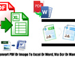 Convert scanned images to editable word or excel