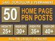 50 Pbn Posts Dofollow Backlinks