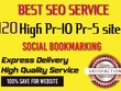 Manually create 120 High Pr  Bookmarking, Backlinks for website