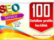 Create 100 High Profile Backlinks, All Manual Linkbuilding