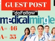 Write an article on Medical Mingle with a link to your website