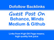 Publish Guest Posts on Behance, Minds, Medium & Github
