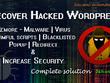 Remove malware wordpress virus and Increase security
