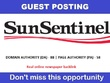 Write & post on sun-sentinel.com , Sun-sentinel DA 88 - PA 58