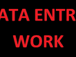 Do all type of data entry work for 1 hours