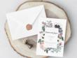 Create a wedding invitation suite with custom illustrations
