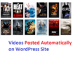 Make Automatic WordPress Videos Posted Responsive Website