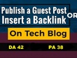 Guest Post On Tech Websites Techlogitic.com DA 42
