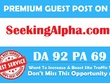 Publish guest post on SeekingAlpha.com DA 92 PA 69