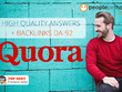 ★I will Answer 30 Quora Questions  + add BACKLINKS to your site★