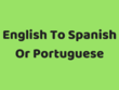Translate 800 Words From English To Spanish Or Portuguese