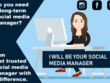 I Will Be Your Professional Social Media Manager for ONE-MONTH