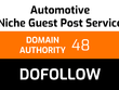 Write and publish 1 automotive guest post